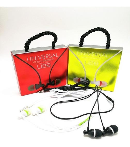 Kit 25 Fones De Ouvido Headset Universal U28