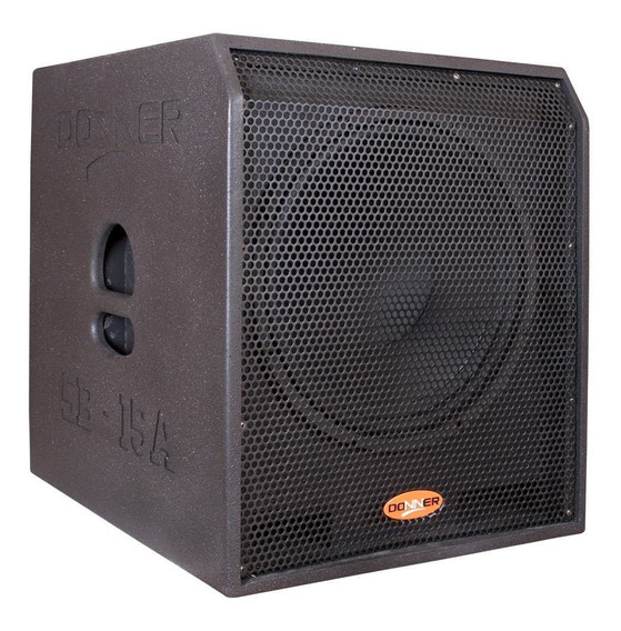 Caixa Ativa Subwoofer Grave Donner Sub15 625 Watts Rms Nca
