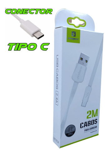 Imagem 1 de 3 de Cabo Usb 2 Metros Tipo C Para Xbox Series X