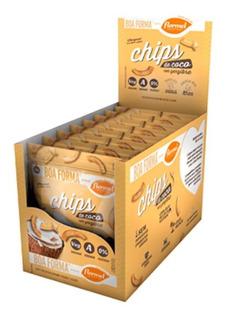 Chips De Coco Com Gengibre Com 8 Unidades De 20g Cada