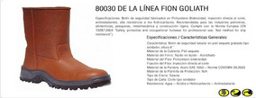 Botas De Seguridad Caña Alta Fion Goliath 80030