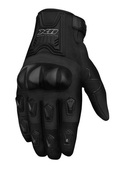 Luva X11 Blackout Motoqueiro Moto Motociclista Proteção Full