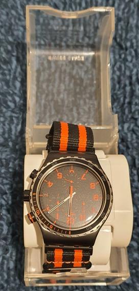 Relógio Swatch Garosugil Yvb401 Irony Laranja/preto Único Ml