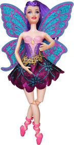 Boneca Baile Cab Roxo Ballet Bailarina 30cm Pernas Dobrável