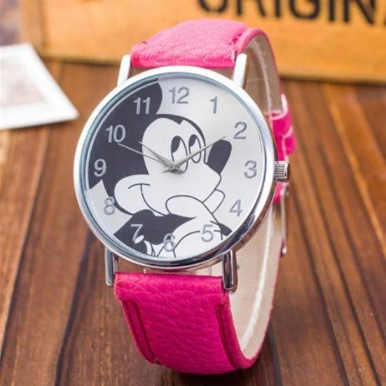 Relógio Feminino De Pulso Mickey Mouse Analogico Rosa