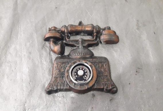 Telefone Termômetro Antigo Ferro Fundido Decoração Parede