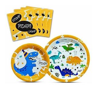Vajilla De Dinosaurio Para Fiestas De Cumpleaños Baby Showe