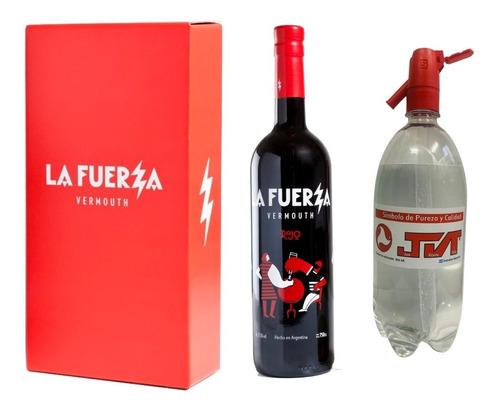 Imagen 1 de 5 de Caja Con 1 Botella La Fuerza A Elección + Soda. Caba + Gba.