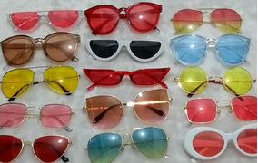 8a570a8e2 Kit Oculos Coloridos Lente Transparente - Óculos De Sol no Mercado ...