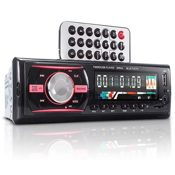 Radio Automotivo Bluetooth Mp3 Player Fm Usb Sd Som Carro