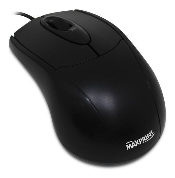 Mouse Ótico Maxprint 1000 Dpi Conexão Usb - Preto