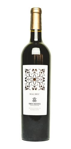 Vino Tinto Malbec Tres Raíces 750 Ml