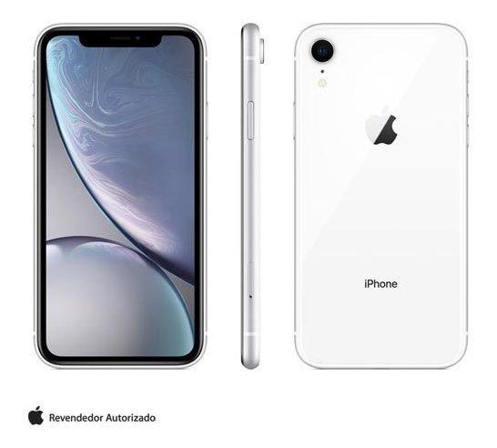 iPhone Xr Branco Tela 6,1, 128 Gb E Câmera 12mp - Mryd2br/a