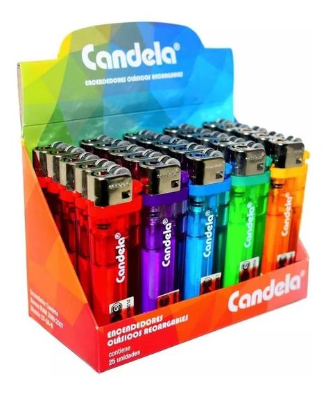 Encendedor Candela Transparente Colores Surtidos Serbazares