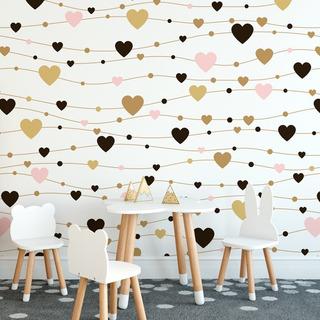 Papel De Parede Infantil Coração Menina Corações - Ref 4087