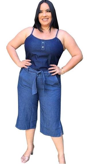 Kit 5 Roupas Plus Size Calça Jeans Capri Feminino - Atacado