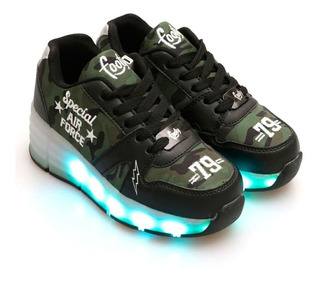 Footy Zapatilla Ninja Roller Green Con Luz Led Fxr44.01