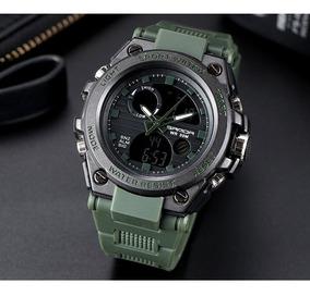 Relógio Militar Esporte Digital Analógico Barato Sanda 739