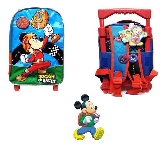 Mochila Mickey Mouse Con Carrito 12 Pulgadas Para Jardín !!!