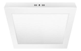 Plafon Led 40x40 36w Moderno Blanco Chato Calido Frio 2880lm
