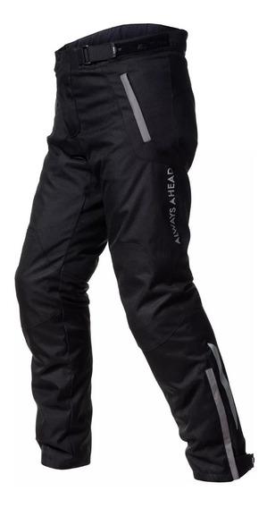 Pantalon Moto Cordura Hombre Ls2 Chart Negro Protecciones