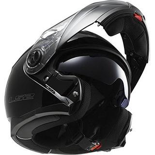 LS2 FF325 Strobe Matt Black Modular flip up Motorcycle//Motorbike helmet