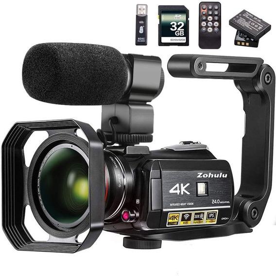 Câmera De Vídeo Filmadora 4k Câmera Zohulu