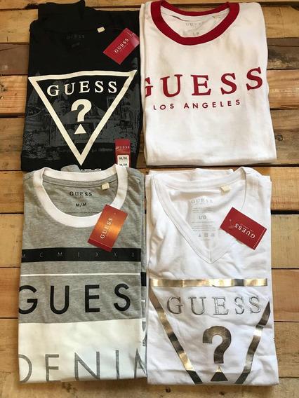 Lote De 3 Camisetas Guess 100% Originales, Con Envio Gratis