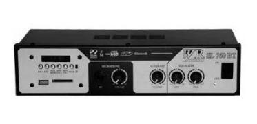 Amplificador Som Amb Wr Sl 760 Bt 36w Rms Usb/bluetooth/fm