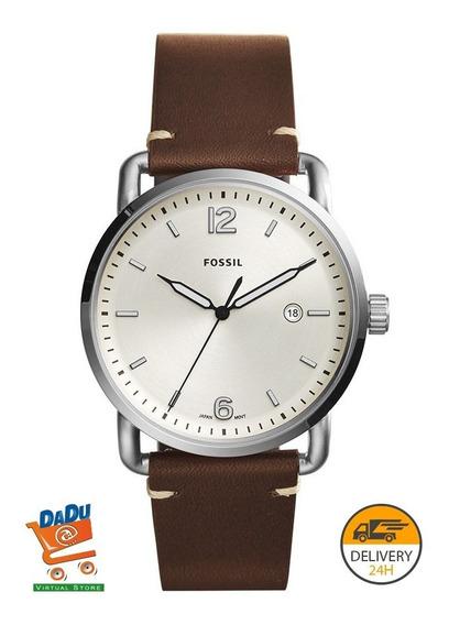 Reloj Fossil Hombre Fs5275 - Acero - Cuero - Original - New