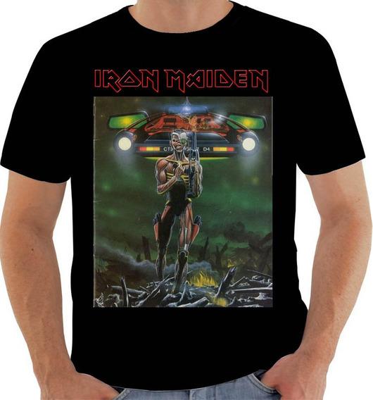 Camiseta Kx 150 Iron Maiden Eddie Bruce Dickinson Harris