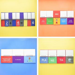4 Libros Móviles: Silabas/matemáticas/adivinanzas /cuentos