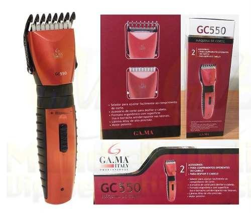 Máquina Corte Cabelo Barato Gama Gc550 Bivolt Barber Shop