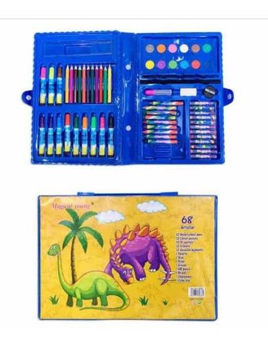 Set Escolar Maletín 86 Piezas Diseño Dinosaurio Teletienda