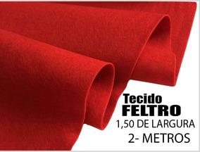 Feltro Tecido Vermelho Artesanato 1,50 Largura - Metros 2