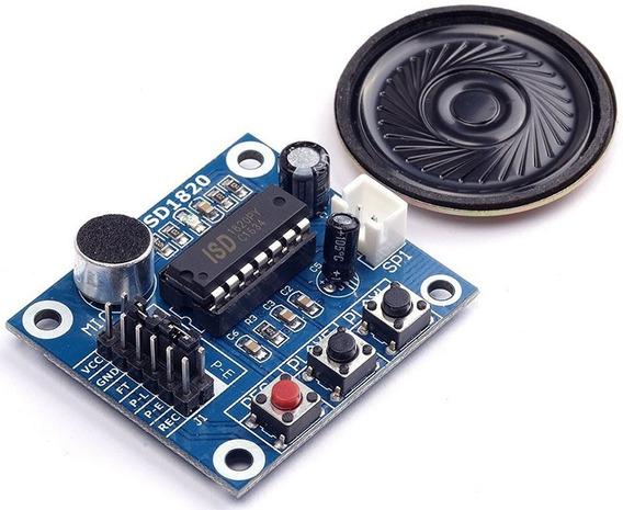 Módulo Gravador De Voz Player Isd1820 + Alto Falante Arduino