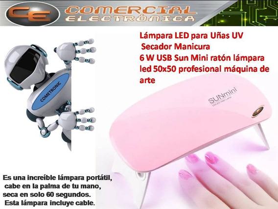 Lampara Led Sun Mini Portátil Secadora De Esmalte De Uñas6w