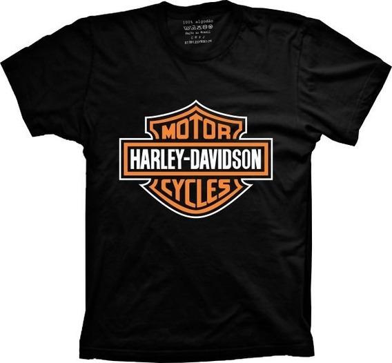 Camiseta T-shirt Harley Davidson 100% Algodão Cores