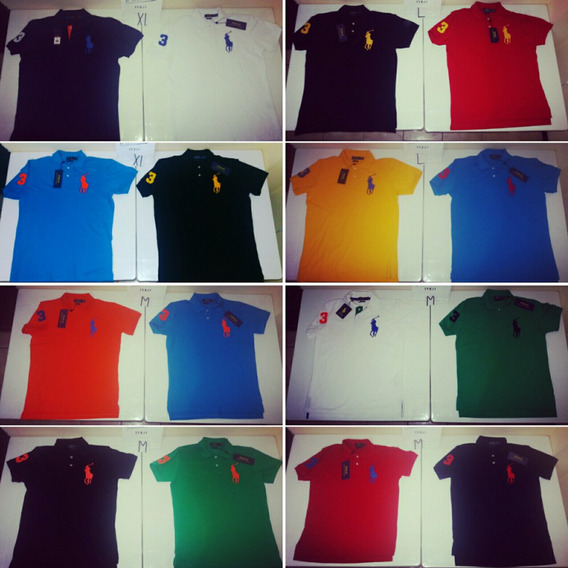 Camisetas Tipo Polo Ralph Lauren Modernas Originales!!