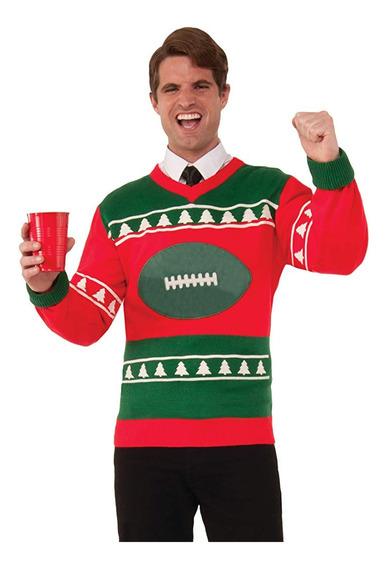 Suéter Feo Navidad Fútbol Navidad Ugly Sweater Xl