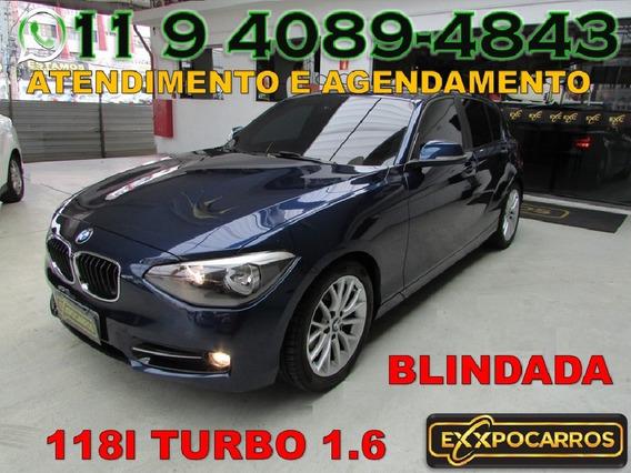 Bmw 118i 1.6 Turbo - Ano 2013 - Bem Conservada - Blindada