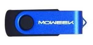 Kit 5 Pen Drive 16gb Usb 2.0 Rotation Moweek M22 Chip Tipo A