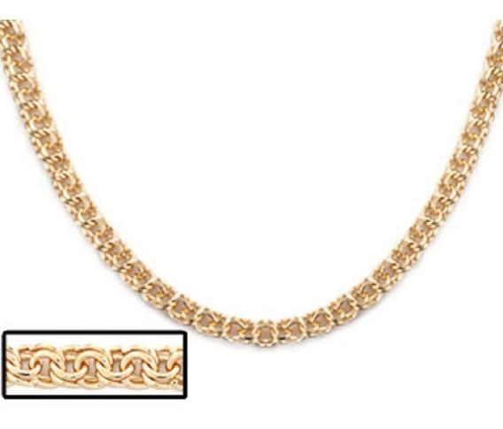 Cordão Rommanel Banhado A Ouro Com Fio Frisado 530238