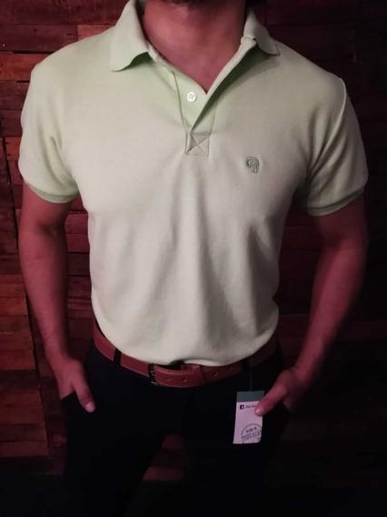 Camisa Tipo Polo Color Pistache Johans