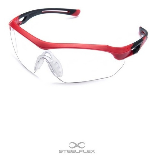Oculos Ciclismo Bike/branco/antirrisco/ Steelflex Epi