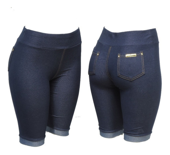 Kit C/3 Bermuda Legging Cotton Jeans