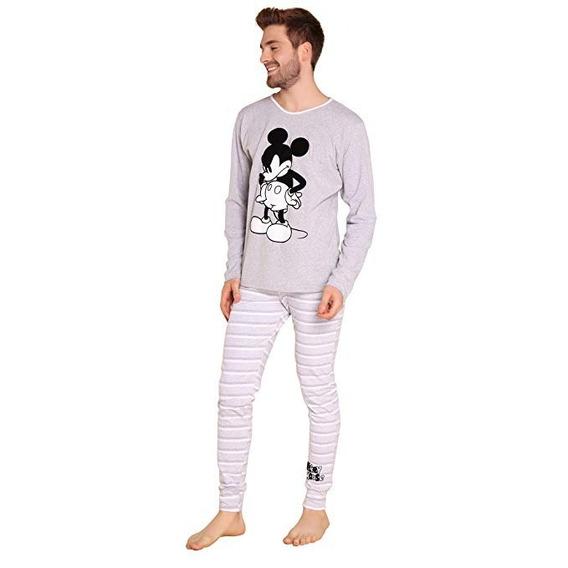 Pijama Mickey Mouse Para Hombre Pantalón Y Camisa