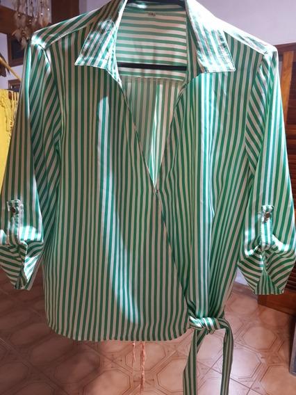 Camisa Rayada Verde T1