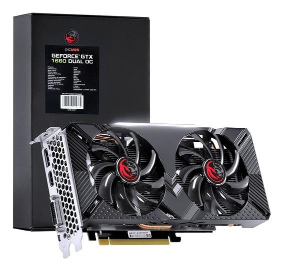 Placa De Vídeo Nvidia Geforce Gtx 1660 Dual Oc Gddr5 6gb 192