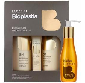 Lowell Kit Bioplastia Reconstrução Imediata + Fluído Blond
